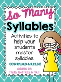 So Many Syllables:  Activities to help your students master syllables