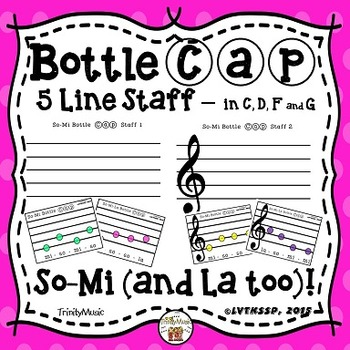So-Mi-La Bottle Cap Staff and Cards (5 lines)