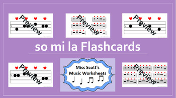 So Mi La Music Flashcards {with Interactive file}
