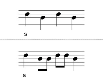 So and Mi Melodic Flashcards {Stick and Standard Notation}