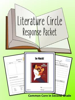 So Much Literature Circle Response Packet- Book Club- NOVE