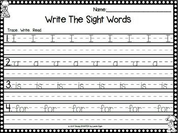 So Much Sight Word Fun:  Beginning Sight Word Activities and Games for the Year