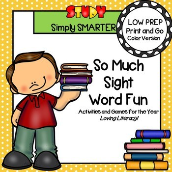 Beginning Sight Word Activities and Games for the Year