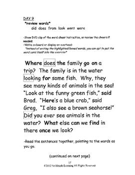 So Simple Sightwords Volume 2