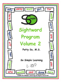 So Simple Sightwords Volume 2