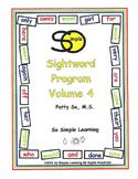 So Simple Sightwords Volume 4