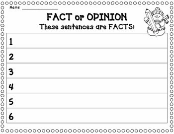 Fact or Opinion: Winter