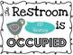 So TWEET Occupied Restroom Sign