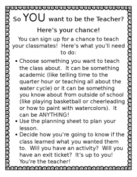 So YOU Want to be the Teacher?