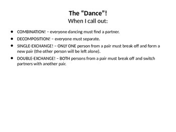 """""""So You Think You Can Dance?"""" Types of Reactions Activity"""