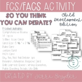 Child Development Activity ||ALL TOPICS|| So You Think You Can Debate