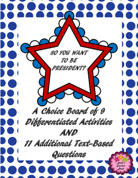 Scott foresman social studies grade 3 teaching resources teachers choice board and story questions so you want to be president choice board and story questions fandeluxe Images