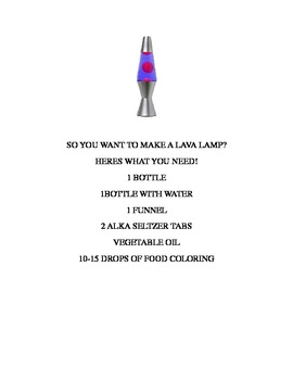 So You Want To Make A Lava Lamp?