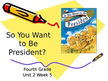 So You Want to Be President? Vocabulary Powerpoint