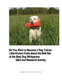 Investigating Dog Trainer Aptitudes: Printable Q & A Activity