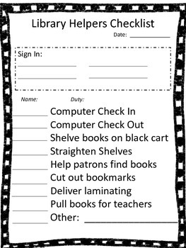 So You Want to Help In the Library