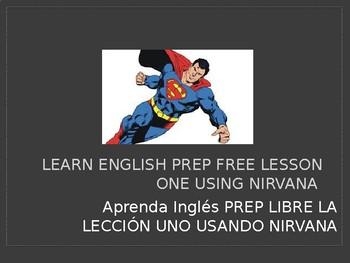 LEARN ENGLISH PREP FREE LESSON ONE USING NIRVANA