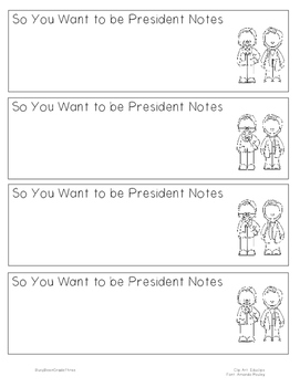 So You Want to be President Notetaking Bookmark