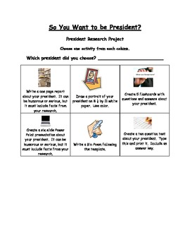 So You Want to be President-Research Choice Board