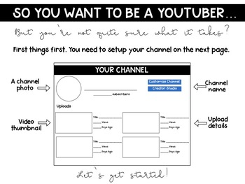 So You Want to be a YouTuber? Project Based Learning Project (Math & Literacy)