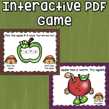 So and Mi Interactive Melody Game and Manipulatives {Rotten Apples!}