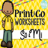 So and Mi Print and Go Worksheets