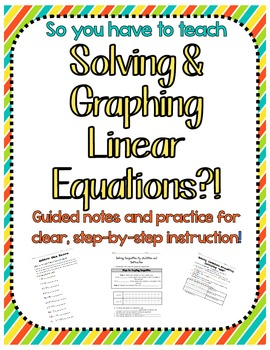 Solving & Graphing Inequalities Notes & Practice