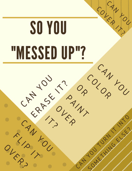 """So you """"messed up""""? POSTER"""