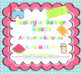 Soaking Up Summer Speech: Articulation Sentences Pack (R,S,L,SH,CH,TH)