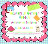 Soaking Up Summer Speech: Articulation Sentences Pack (R,S