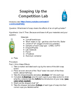 Soaping Up the Competition - Water Pollution Lab