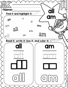 Soar into Reading: Primer Sight Words Unit