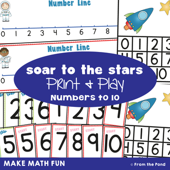 Soar to the Stars - Math Print and Play Center Game
