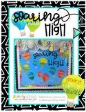 Soaring High! Hot air balloon themed bulletin board resources