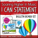 "I Can Bulletin Board Set ""Soaring Higher in Music"" based o"