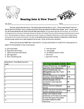Soaring Into A New Year!!!  - New Year's Writing Activity