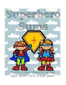 Superhero Sums Addition Math Center