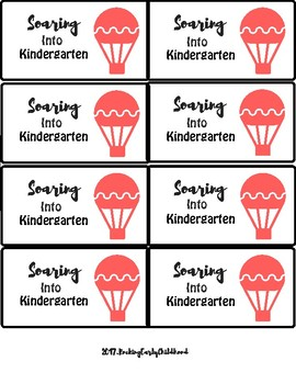 FREEBIE! Soaring into next year - Balloon gift tags!!