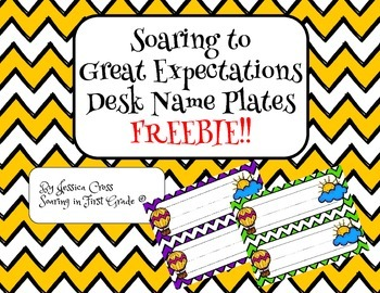 Soaring to Great Expectations Desk Name Plates FREEBIE