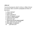 Sobre yo! All about me Spanish assignment