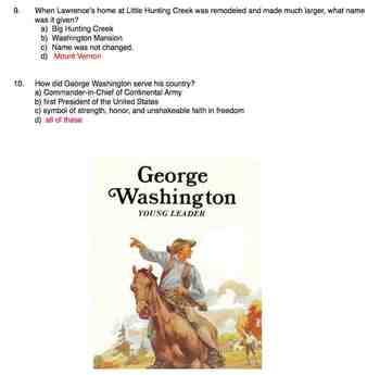 Soc. St.  -  George Washington Young Leader  -  Troll Book   -  quiz