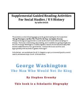 Soc. St. - Guided Reading for George Washington novel