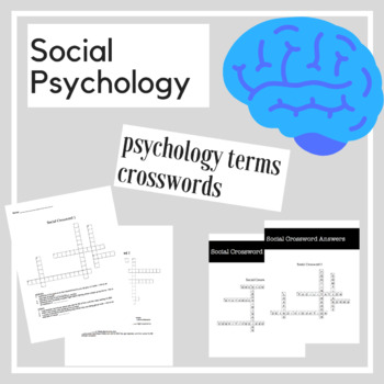 Socail Psychology Crossword Practice | Psychology Activities