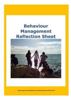 Social Skills: Behaviour Management Reflection Sheet