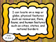 Socail Studies I Can Statements for Grade 3 Wisconsin