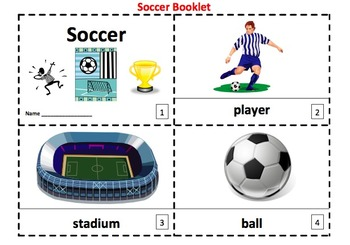 Soccer 2 Emergent Reader Booklets