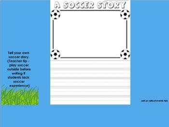 Soccer 5 Day Shared Reading File Kindergarten