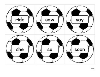 Soccer:  A Sight Words Card Game With All 220 Sight Words!