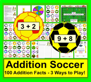 Soccer Activities Bundle for K/1:  Sight Words, Addition, Blending, Contractions