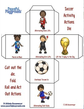 Soccer Activity Dice